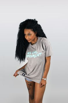 We Live in the Moment Tee #leaflife #weedfashion #higherfashion