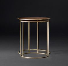 Monroe Slimline Round Nesting Side Tables