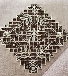 Hardanger Embroidery, Embroidery Stitches, Cross Stitches, Drawn Thread, Thread Work, Mesh Netting, Bargello, Cutwork, Perler Beads