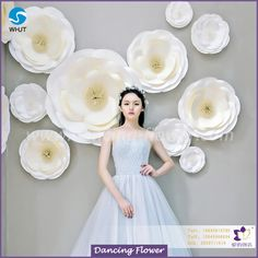 High quality and cheap cost large wedding backdrop paper flowers for sale