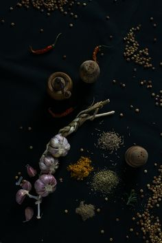 Spices Still Life, Food Photography, Spices, Herbs, Backyard, Painting, Art, Art Background, Spice