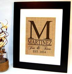Burlap Monogram Burlap Wedding Personalized by BusyBeeBurlap