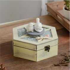 ==> [Free Shipping] Buy Best Creative Home Decor Retro Crafts Storage Box Kid Toy Retro Birthday Gift Home Decor Angel And Sewing Mashine Image WS155 Online with LOWEST Price | 32751370476