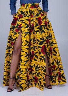 Ankara maxi skirt African print maxi skirt Maxi by MaDeInAfrikaGh http://fancytemplestore.com