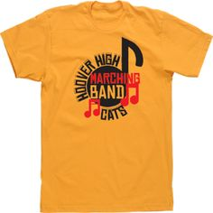Marching Band High School T-shirts Custom Design Tees Music Notes