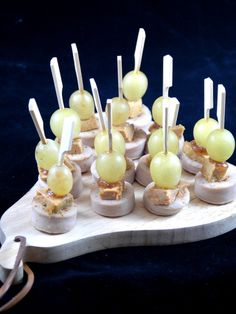 ❤️❤️❤️ Boudin blanc au foie gras pour l'apéro (avec confiture de figues, sel de Guérande et raisin blanc)