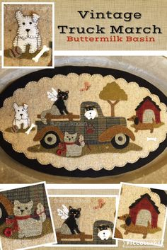 """Vintage Truck Thru the Year-March=who doesn't love to haul their """"critters"""" around"""