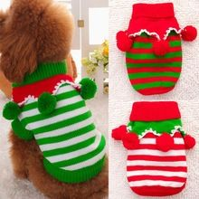 New Fashion Xmas Cat Dog Clothes Sweater Puppy Dog Christmas Jumper Winter Knitwear Sweater(China (Mainland))