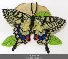 Schwalbenschwanz (Brickstitch und Peyote) - Insekten, Krabbeltier, Reptilien, Amphibien - Perlentiere-Forum