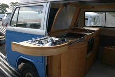 - Volkswagen - camper interior by All Things Timber Vw T5 Camper, Vw Caravan, Campers, Transporteur Volkswagen, Vw T1, Volkswagen Transporter, Interior Kombi, Station Wagon, Combi Vw T2