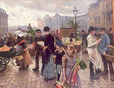 Paul Fischer  1890 Fra Højbro Plads 171x220cm 1951 9.400 1999 1.500.000 2007 4.000.000 Bruun Rasmussens Auktioner