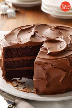 Best Chocolate Dessert Recipes is Among the Liked Of Numerous People Across the World. Besides Simple to Create and Great Taste, This Best Chocolate Dessert Recipes Also Healthy Indeed. Sandy's Chocolate Cake Recipe, Best Chocolate Cake, Homemade Chocolate, Chocolate Pudding, Chocolate Ganache, Ganache Cake, Fudge Frosting, Chocolate Curls, Fudge Cake