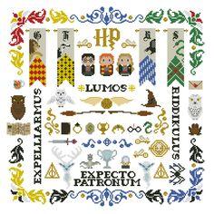 Harry Potter parody Pillow Sampler Cross stitch by cloudsfactory Simple Cross Stitch, Cross Stitch Rose, Cross Stitch Samplers, Cross Stitching, Cross Stitch Embroidery, Cross Stitch Patterns, Embroidery Patterns, Cross Stitch Pillow, Harry Potter Pillow