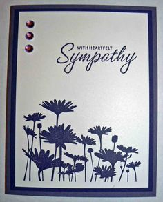 VD-MD-Sympathy-With Heartfelt Sympathy by dawnsthisnthat - Cards and Paper Crafts at Splitcoaststampers Sorry Cards, Stamping Up Cards, Rubber Stamping, Stampin Up, Embossed Cards, Alice, Get Well Cards, Paper Cards, Diy Cards