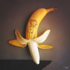 Marilyn Monroe Banana Art Print