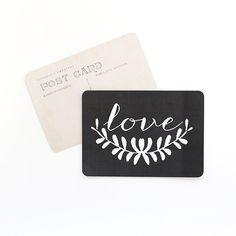 "cinqmai — Carte Postale""LOVE / ANNA / ARDOISE"""