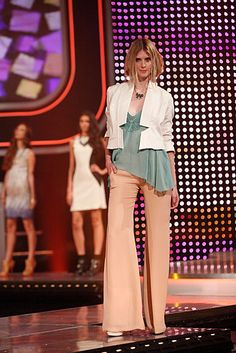 White Blazer and Wide-Leg Trouser  #FashionStar / Fashion Star