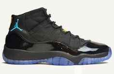 "Pre-Order 378037-006 Air Jordan 11 ""Gamma Blue"" Blue / Black / Varsity Maize For Women"