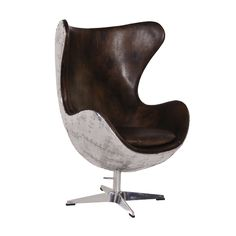 Buy Metal Aero Egg Chair from Charles Grace Interiors online shop Retro Furniture, Classic Furniture, Contemporary Furniture, Pink Desk Chair, Egg Chair, Old Chairs, Metal Chairs, Easy Chairs, Retro Vintage