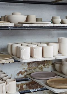 Shiko pieces before entering the kiln. Photography - Sean Fennessy.