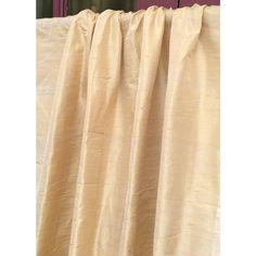 Light Gold 100 Percent Pure Silk Dupioni Grommet by FabricMart