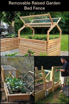 Woodworking Projects House Protect your plants from pesky critters by building this raised garden bed fence.Woodworking Projects House Protect your plants from pesky critters by building this raised garden bed fence. Building A Raised Garden, Raised Garden Beds, Raised Beds, Garden Boxes, Herb Garden, Fence Garden, Raised Bed Frame, Raised Vegetable Gardens, Vegetable Gardening