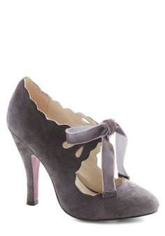Stagehand in Hand Heel in Grey - Modcloth $79.99 // WOW OBSESSED. Why so expensive??