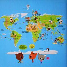 livre enfant le tour du monde de Mouk - Purple Jumble