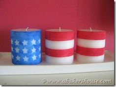 flag candles