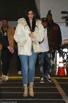 Family represented: Kylie Jenner brought her boyfriend Tyga whenPier 59 Studios played host to her brohter-in-law Kanye West's New York Fashion Week show Yeezy Season 5 on Wednesday