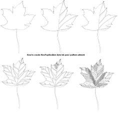 Exotic flower & butterfly, leaf - NeoPopRealism ink pen pattern drawing, Gr.6-8, 9-12