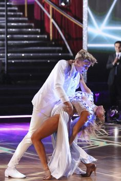"""Witney Carson & Cody Simpson tangoed to Chris Brown's """"Yeah, 3x""""    -  Dancing With the Stars  -  week 2  -  season 18  -  spring 2014  -  scored 7+7+8=22 of 30 possible points."""