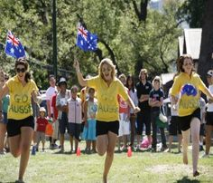 These young People were among with Australian people to celebrate Australia's day and show how much they care about their country. This determination is to launch separate identities and demonstrating their independence and representing their own country in this world