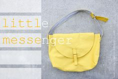 delia creates: Yellow: Little Messenger A free pattern and easy tutorial to follow.
