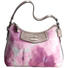 "This FABULOUS Coach floral bag from the ""Madison"" collection was given to me by my wonderful hubby for our 2nd wedding anniversary on 4/26/11. He saw it online before it hit stores, knew it was made for me, and was able to get one rush-ordered in time for our anniversary getaway. I was the first person in NJ to own this bag <3 Everything about it is ""me"": The pastel floral watercolor design, the colors, the stagecoach logo, and the pewter metallic leather trim. He chose this on his own!"