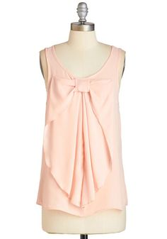 Hello, Bow! Top in Blush, @ModCloth