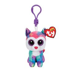 "<P>Rub my ears and pet my head, I will ride the paths you steer the sled!</P><P>Izabella is an adorable pastel colored Husky dog with big glittery purple eyes. Comes with a plastic clip so you can take it with you anywhere you go. Part of the Ty Beanie Boos collection. Collect them all!</P><UL><LI>Birthday: April 3rd <LI>2 1/4""L x 3 3/4""H</LI></UL>"