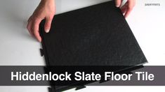 Many people love the ease of installation and the toughness of our interlocking floor tiles. Anyone can install these, as the individual pieces will fit together quickly and with minimal effort. The highly detailed edge designs of these make use of hidden interlocked seams. This has an easy to assemble design where the straight seams result in a product that looks similar to natural floorings. Slate look floor tiles are extremely tough, yet they also can be used almost anywhere. Rubber Flooring For Basement, Tile Basement Floor, Basement Flooring Waterproof, Basement Flooring Options, Patio Flooring, Slate Flooring, Flooring Ideas, Basement Ideas, Black Slate Floor Tiles
