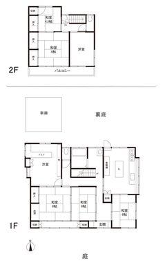 きれいな日本家屋を買いたい。 - 物件ファン Traditional Japanese House, Floor Plans, Diagram, Architecture, Rooms, Japanese Architecture, Houses, Arquitetura, Bedrooms