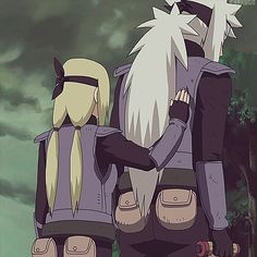 Jiraiya and Tsunade....daaaaang Tsunade is short.... I miss them both... Tsunade is in a coma and hasn't come out of it... and Jiraiya is gone