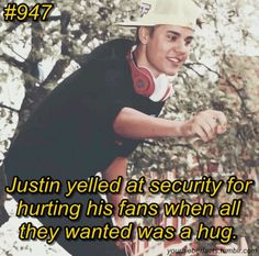 And you say he doesnt care about his beliebers...I love Justin