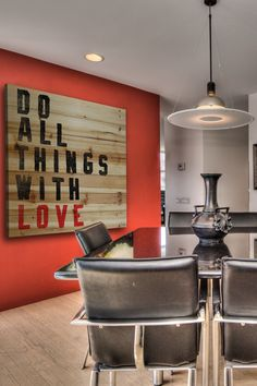 Do All Things With Love Brown Distressed Wood Wall Art by Marmont Hill Inc. on @HauteLook