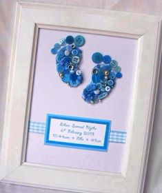 Button Art Baby Feet by SibyennaCrafts on Etsy, £15.00