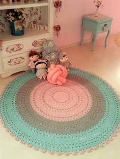 Crochet Rug Patterns, Crochet Designs, Love Crochet, Diy Crochet, Crochet Bags, Sparkle Outfit, Shabby, Floor Rugs, Decor Styles