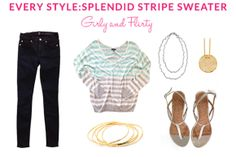 Every Style: Splendid Stripe Sweater: Girly and Flirty | Taim Boutique