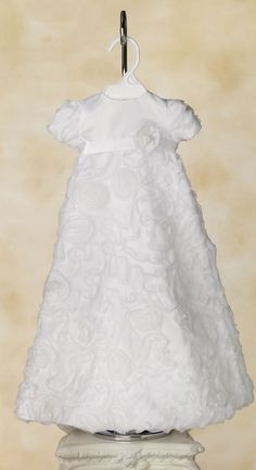 Unique, Baby Rose Christening Dress. - White Elegance - Makers of LDS Temple Clothes, Temple Dresses, Pioneer Costumes and more