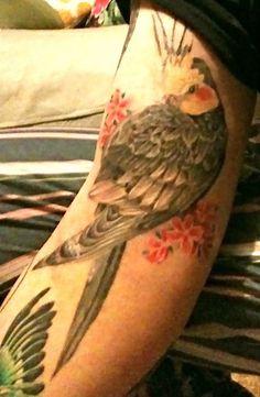 Such a pretty tattoo of a cockatiel!