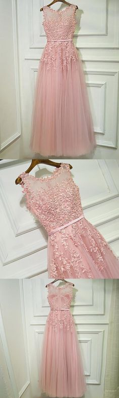 Shop Gorgeous Pink Tulle Prom Dress Long With Lace Sleeveless online. SheProm offers formal, party, casual & more style dresses to fit your special occasions. Burgundy Homecoming Dresses, Pink Prom Dresses, Prom Dresses With Sleeves, Tulle Prom Dress, Prom Party Dresses, Modest Dresses, Nye Dress, Maxi Dresses, Simple Prom Dress