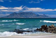 View of Cape Town from Robben Island, South Africa Table Mountain Cape Town, Mountain Pictures, Hotels And Resorts, South Africa, Beautiful Places, Places To Visit, Travel, Outdoor, Image
