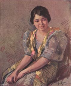 Pampanga Girl, pastel, by Fernando Amorsolo. They inhabit the province of Pampanga and about a third of the province of Tarlac.